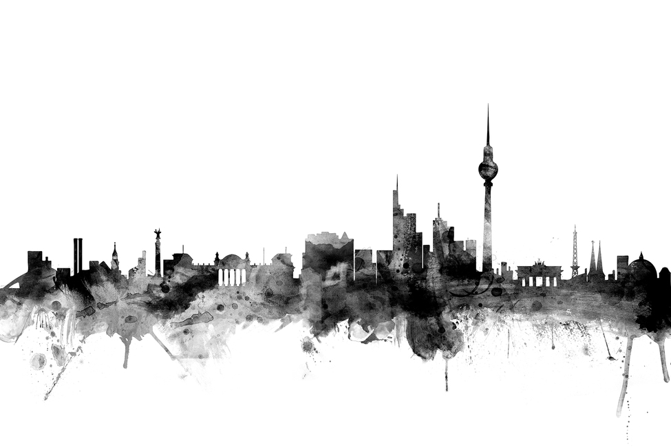 Berlin Skyline Black Wall Mural Amp Photo Wallpaper