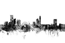 Wall mural - Birmingham UK Skyline Black