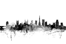 Canvas print - Bristol UK Skyline Black