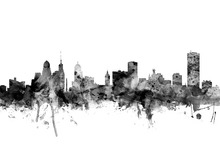 Lerretsbilde - Buffalo New York Skyline Black