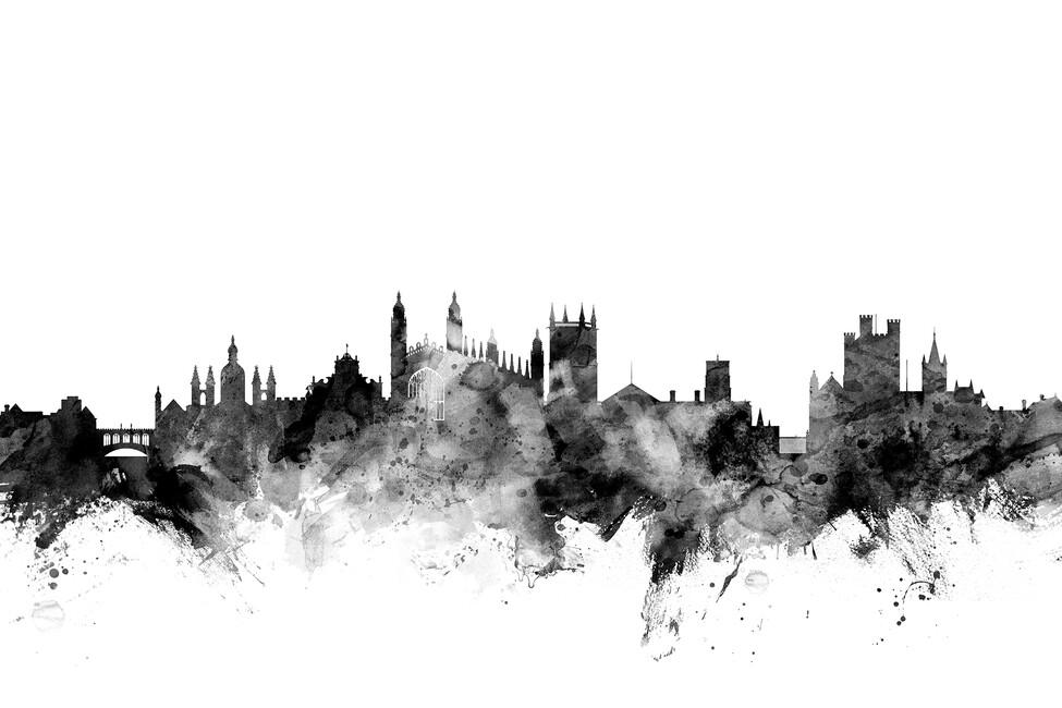Cambridge Uk Skyline Black Wall Mural Amp Photo Wallpaper