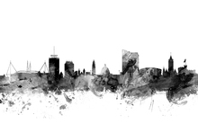 Wall mural - Cardiff Wales Skyline Black