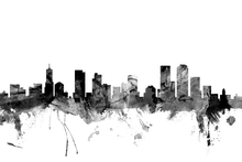 Wall mural - Denver Colorado Skyline Black