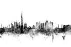 Canvastavla - Dubai Skyline Black