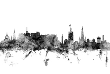 Canvas print - Edinburgh Scotland Skyline Black