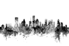 Canvas print - Houston Texas Skyline Black