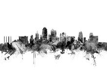 Wall mural - Kansas City Skyline Black