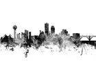 Canvas print - Knoxville Tennessee Skyline Black