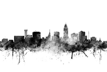 Wall Mural - Lincoln Nebraska Skyline Black