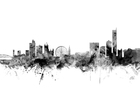 Wall mural - Manchester UK Skyline Black