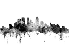 Wall Mural - Minneapolis Minnesota Skyline Black