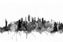 Lerretsbilde - New York City Skyline Black 2