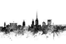 Canvas print - Norwich UK Skyline Black