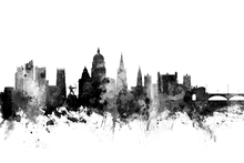 Wall mural - Nottingham UK Skyline Black