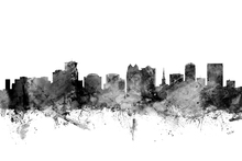 Wall mural - Orlando Florida Skyline Black