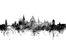 Wall mural - Oxford UK Skyline Black
