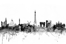 Canvastavla - Paris Skyline Black