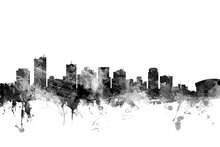 Canvas print - Phoenix Arizona Skyline Black