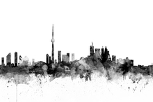 Canvastavla - Toronto Skyline Black