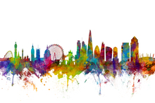 Wall mural - London Canary Wharf skyline