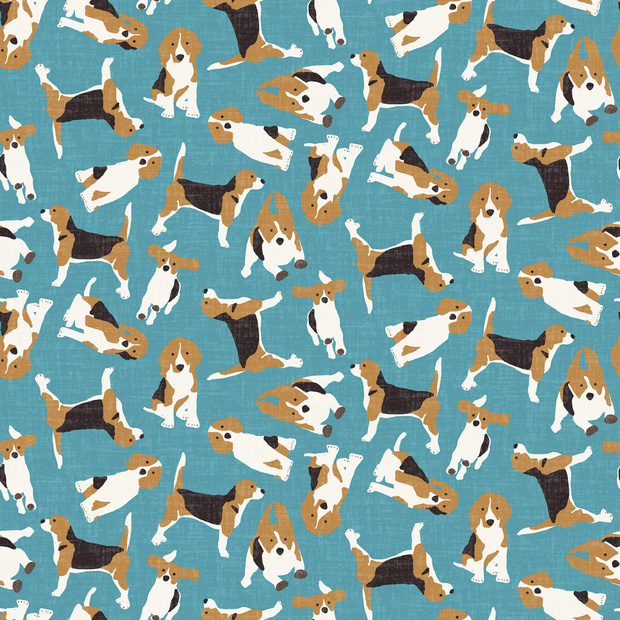 Beagle Scatter Blue