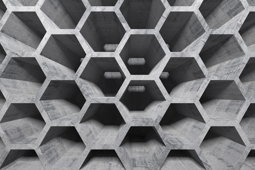 3d Honeycomb Structure Wall Mural Amp Photo Wallpaper