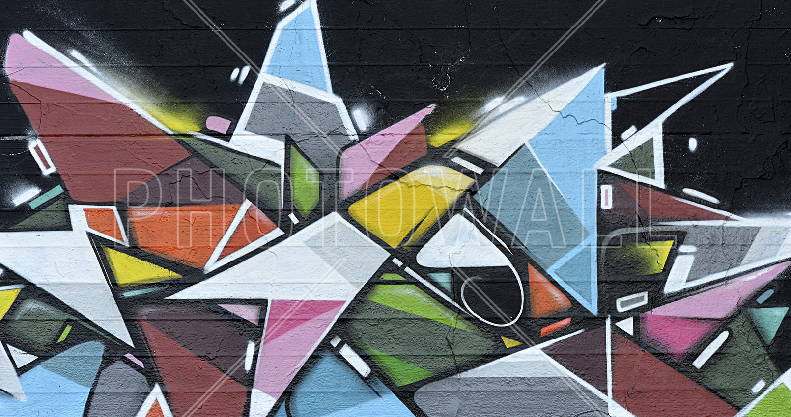 graffiti wallpaper wall murals photowall co uk wall mural geometric graffiti