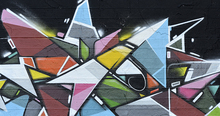 Mural de pared - Geometric Graffiti