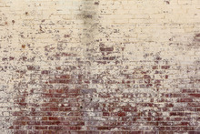 Wall mural - Long Since White Brick Wall