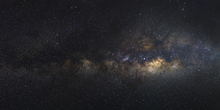 Canvastavla - Milky Way Galaxy - Long Exposure