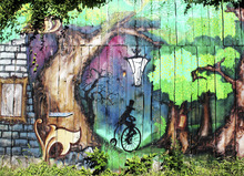 Wall mural - Mystery Forest Graffiti