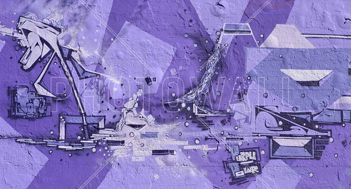 Purple Power Graffiti