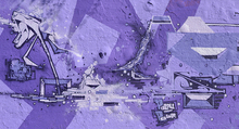 Wall mural - Purple Power Graffiti