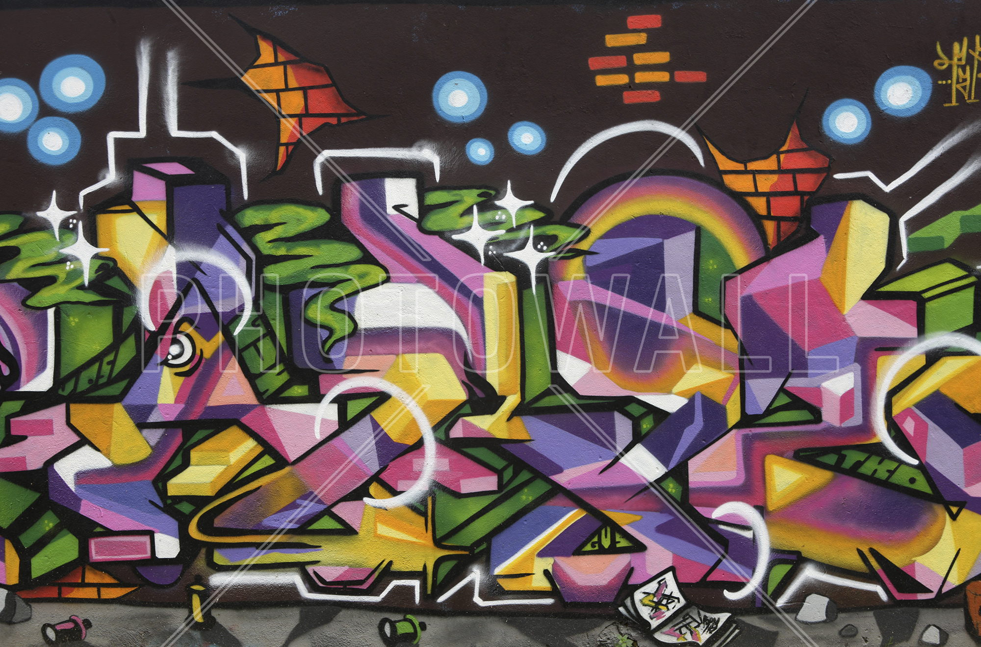 Wall Mural   Teenage Graffiti