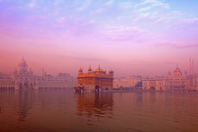 Canvas print - Dawn at The Golden Temple