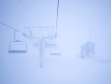Wall mural - Empty Ski Lifts
