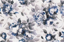 Wall mural - Scent of Roses Indigo