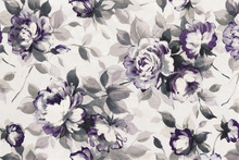 Wall mural - Scent of Roses Plum