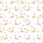 Wallpaper - Flamingos Coral