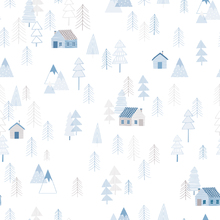 Wallpaper - Tiny Cabin Blue