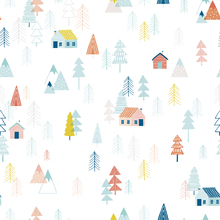 Wallpaper - Tiny Cabin Multi