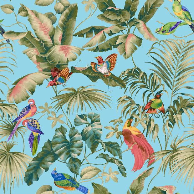 jungle canopy aqua decoration murale papier peint photo photowall. Black Bedroom Furniture Sets. Home Design Ideas