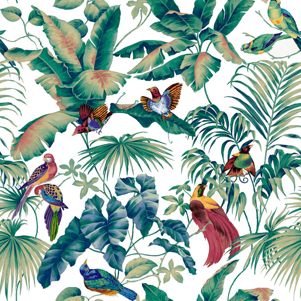 Jungle canopy multi decoration murale papier peint for Decoration murale jungle
