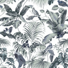Wallpaper - Jungle Canopy 2 Steel Gray