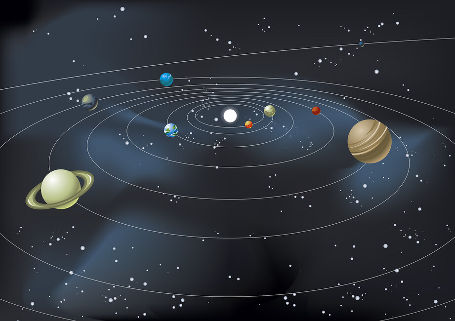 Planetary System Wall Mural Amp Photo Wallpaper Photowall