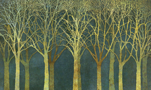 Wall Mural - Birch Grove Golden Light