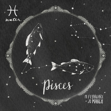 Canvastavla - Night Sky Pisces