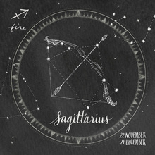 Canvas print - Night Sky Sagittarius