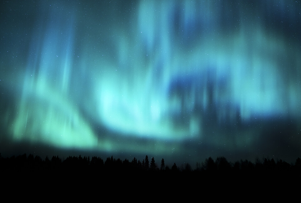 Northern lights wall mural photo wallpaper photowall for Mural lighting