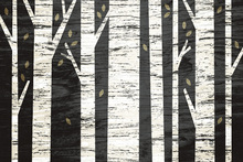 Wall mural - Graphic Birch Forest